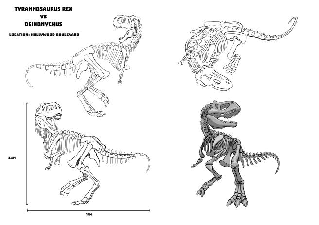 Dino Design Sheet_A3_rexB